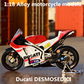 1:18 Alloy motorcycle models ,high simulation metal casting motorcycle toys,Ducati DESMOSEDICI,free shipping