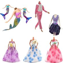 1PC Fashion Princess Wedding Mermaid Sportswear Dresses For Doll Handmade Party Doll's Clothes Gown Baby Toys For Girls(China)
