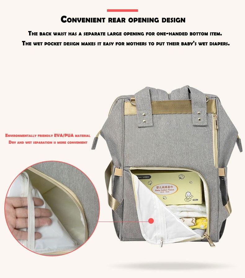 HTB1zYRHdWSs3KVjSZPiq6AsiVXa2 Fashion Mummy Maternity Nappy Bag Waterproof Diaper Bag With USB Stroller Travel Backpack Multi-pocket Nursing Bag for Baby Care