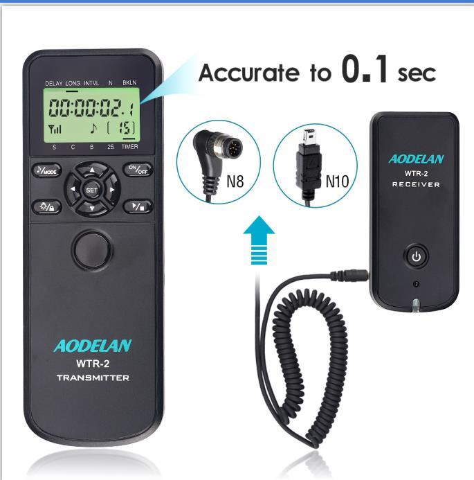 D610 Coolpix P1000 D600 D3200 Z7 D3100 D3300 Replace MC-DC2,MC-36,MC-30A AODELAN TRS-1 Camera Shutter Release Timer Remote Control for Nikon Z6 D5000 D3 D810 D700 D7200 D5 D4 D850 D750
