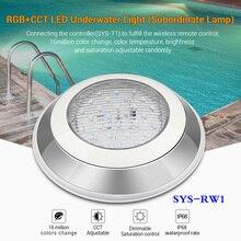 Mi светильник 12 Вт RGB+ CCT светодиодный подводный светильник водонепроницаемый вспомогательный светильник приложение для телефона с регулируемой яркостью 24 в wifi контроллер дистанционного управления ip68