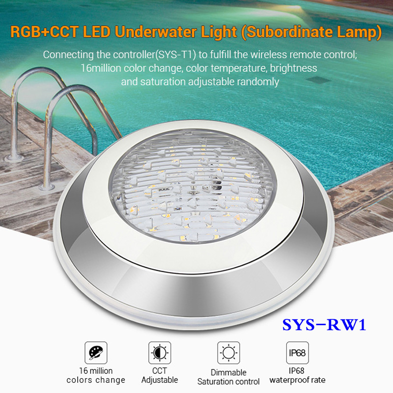 Trustful Milight 12w Rgb+cct Led Underwater Light Waterproof Subordinate Lamp Phone App Dimmable 24v Wifi Controller Remote Control Ip68 Curing Cough And Facilitating Expectoration And Relieving Hoarseness Led Lamps