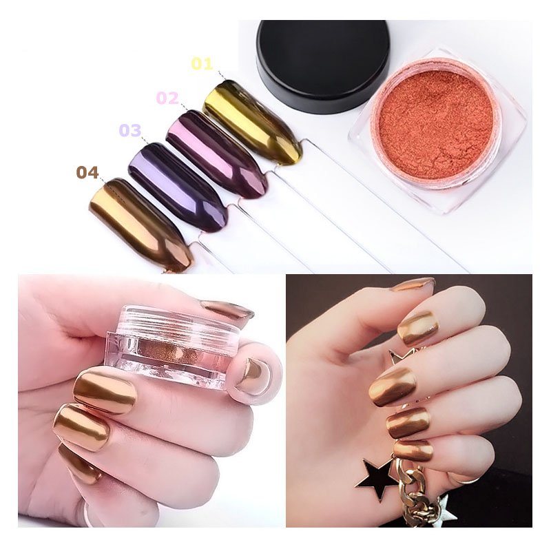 Chrome Nail Powder Cnd: Mirror Powder Glitter Nails Holographic Nail Chrome