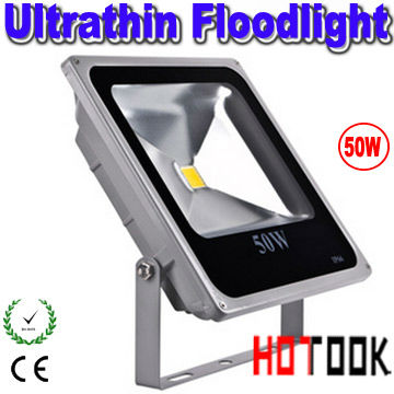 ФОТО LED flood light 50w ultrathin ultra thin Floodlight IP66 Outdoor 85-265V CE&RoHS Warranty 2 years X 3PCS -- ship by express