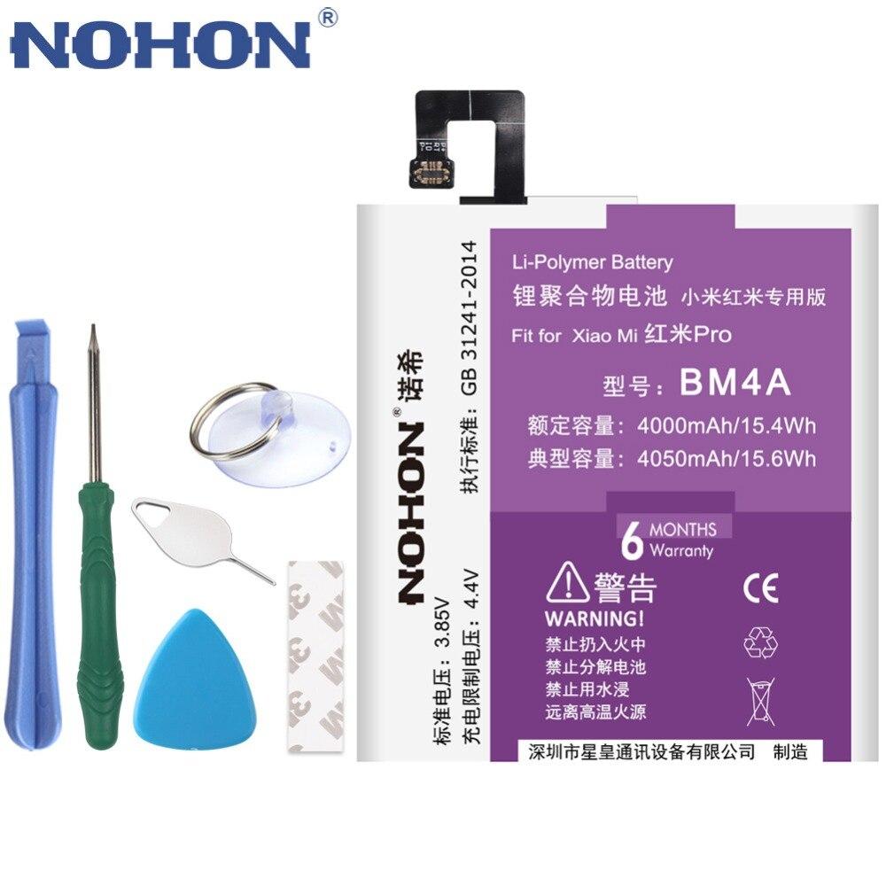 NOHON Bateria Bm4a-Battery Replacement Mobile-Phone Xiaomi Redmi High-Capacity Original