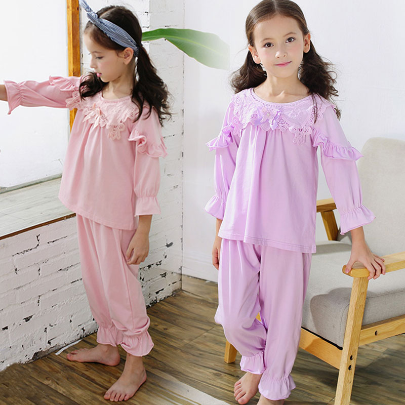 Baby Girl Clothing Sets 2pcs/set Cotton Spring Autumn girl long sleeve Shirt+Pants pink purple Costumes for girls 2 4 6 8 10 11T 2017 new style spring autumn hoodie baby girl clothing set sequin lace long sleeve velour sports jacket long trousers outfits