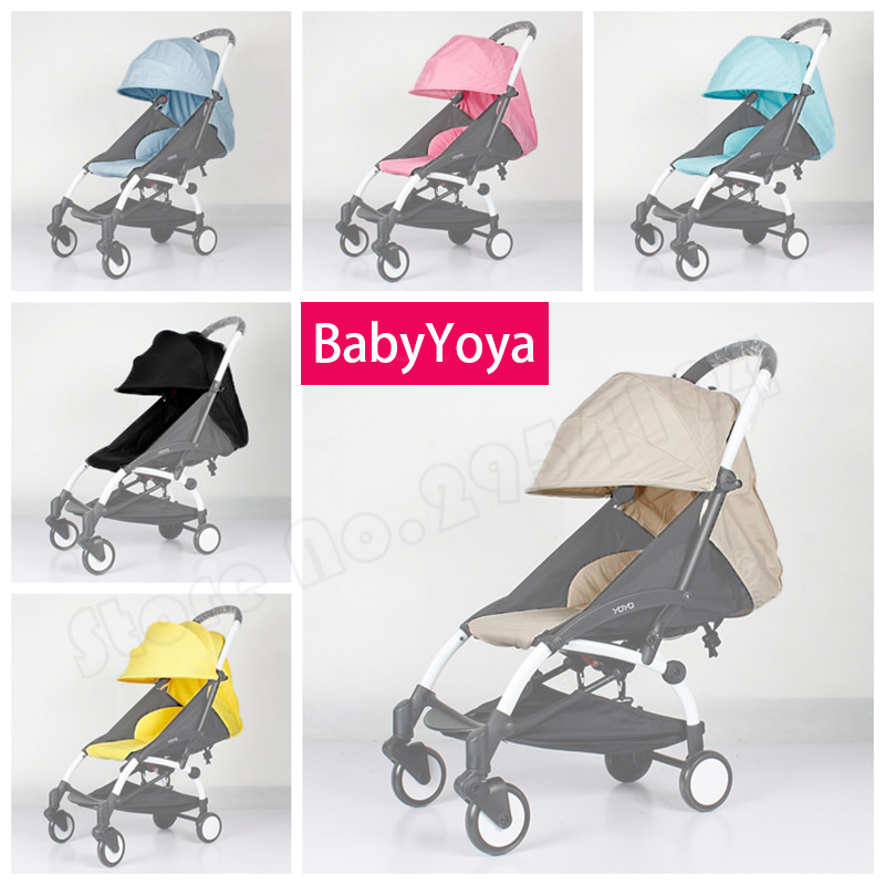 Babyyoya Four Segments Solid 175 Degree Sun Cover And Seat Cushion Set Yoya Yoyo Baby Stroller Accessories Sun Cover Canopy Seat baby stroller accessories for yoya yoyo babyzen sun shade cover seat infant pram cushion pad sunshade canopy buggies for babies