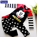 Children's Clothing 2017 Spring Boys Girls Suit Baby's Cute Mickey Set Shirt+Pants 2-Pieces Top Quality New Suit Fashion Soft