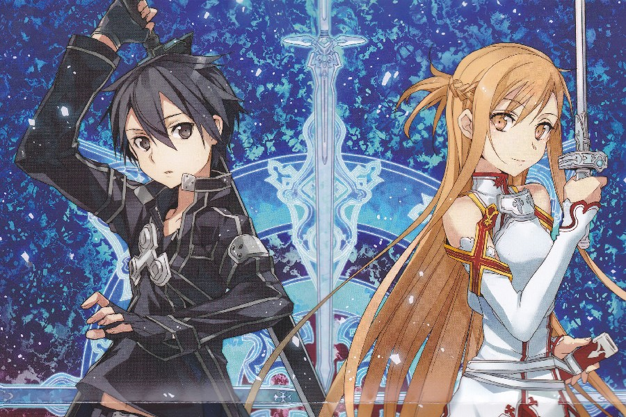 №DIY marco espada arte en línea Japón Hot Comics anime cartel kirito ...