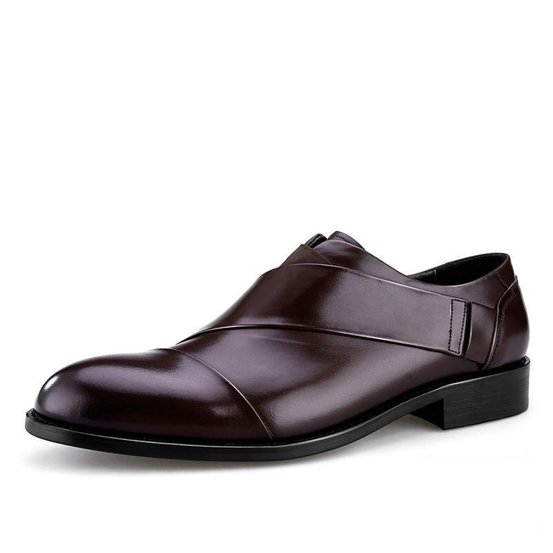 000c33c203f MYCORON Leather Boots Men Pointed Toe Luxury Designers Man Dress ...