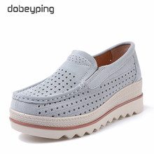 dobeyping Spring Summer Shoes Woman Fashion Wedges Women Slip On Womens Loafers Moccasins Female Shoe Suede Leather Flats