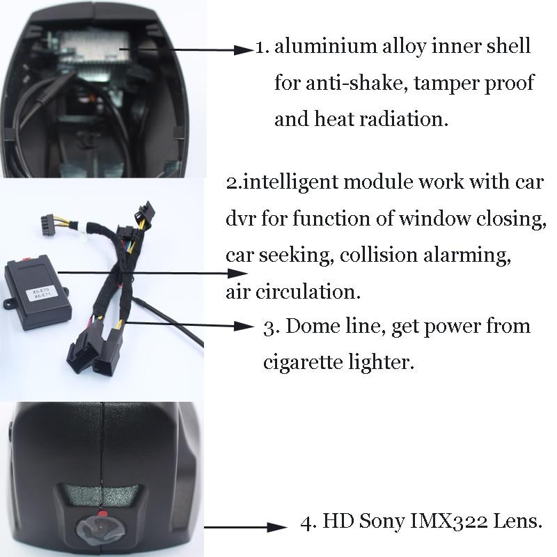 Hidden Car DVR Wifi Cameras for BMW X5 X6 F15 F18 F10 Novatek 96655 Video Recorder Android IOS APP Full HD 1080P Loop Recording mingge car dvr dash cam for bmw before 2012 f10 z4 e61 535 e9 750li x3 x5 x6 hd digital video recorder hidden type
