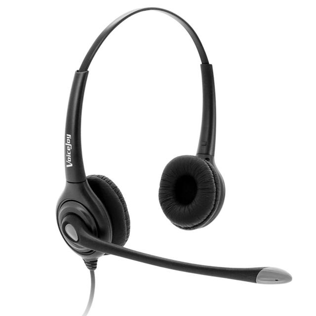 Noise cancelling headset with microphone for computer