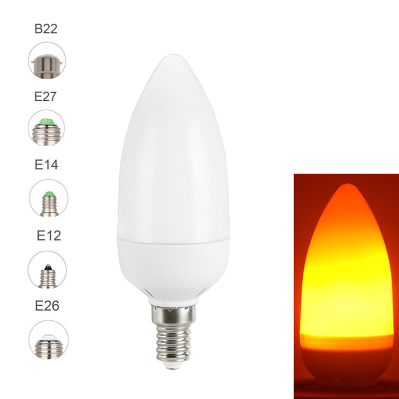 Image 2 - Creative 3 modes+Gravity Sensor Flame Lights E27 E26 E14 LED Flame Effect Fire Light Bulb 7W 9W Flickering Emulation Decor Lamp-in LED Bulbs & Tubes from Lights & Lighting