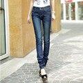 Envío Gratis 2017 Nuevo de La Manera Pantalones Largos Para Las Mujeres Altas resortes Más El Tamaño 26-40 de Los Pantalones Vaqueros Pantalones Lápiz Pantalones de Estiramiento de Las Señoras pantalones