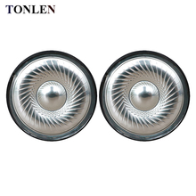 лучшая цена TONLEN 2PCS 40mm HIFI Headphone Speaker 32ohm DIY Headset Replacement Audio Horn Unit Repair Dynamic 1pair Headphones Speakers