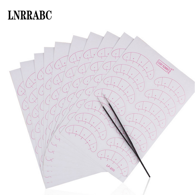 Sale Fashion Paper Patches 3D Eyelash Under Eye Pads Lash Eyelash Extension Paper Patches Eye Tips Sticker Wraps Make Up Tools