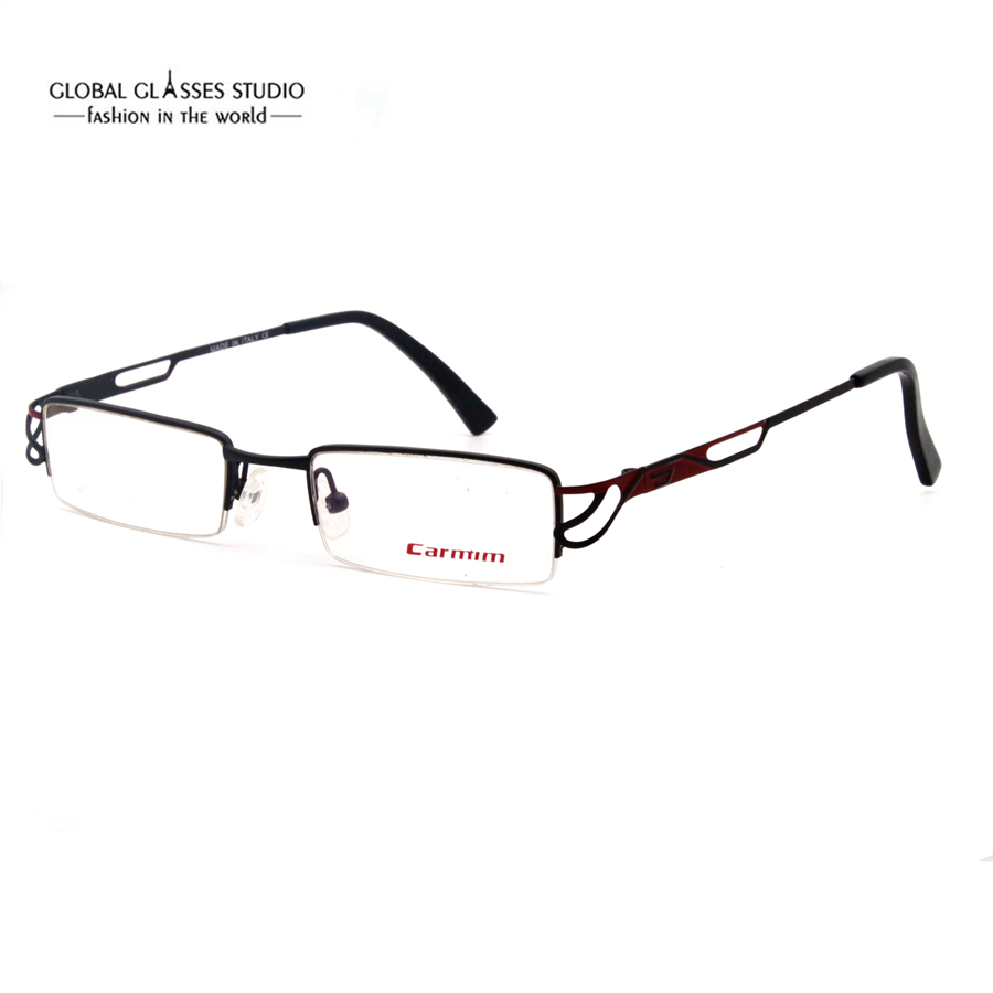fotos oficiales 42695 e2645 € 8.26 |Gafas de lectura de lentes rectangulares pequeños montura fina de  Metal gafas huecas para mujeres con estilo medio borde gafas de Color rojo  ...