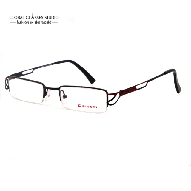 fdce2c16bc Small Rectangle Lens Reading Glasses Frame Slim Metal Eyewear Hollow Temple  Stylish Women Half Rim Eyeglasses Red Color RBHA4-5