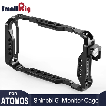 "SmallRig DSLR Camera Director's Monitor Cage for Atomos Shinobi 5"" for AtomX 5"" Shinobi Cage With QR Nato Rail 2305"