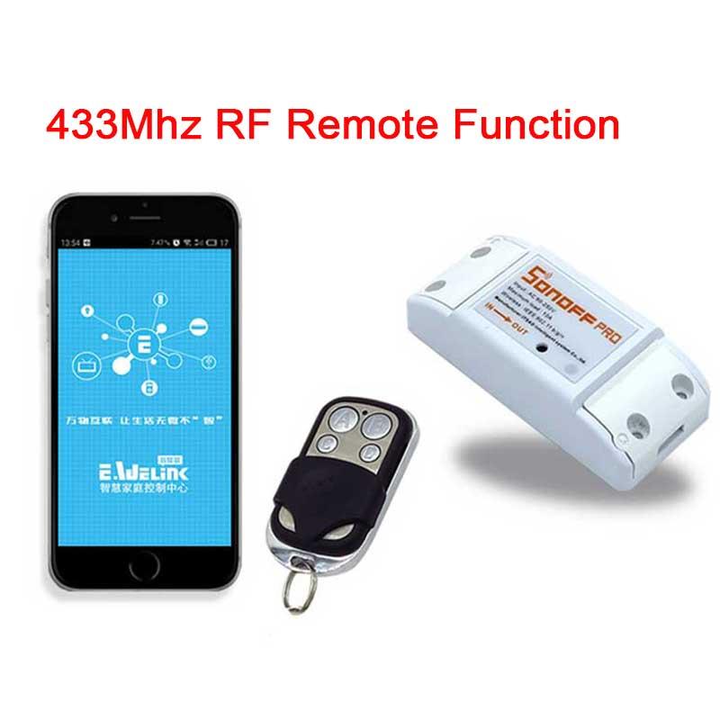 Sonoff Inalámbrica 433 mHz Wifi Smart Switch + Mini Remote