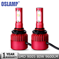 Oslamp 2pcs 9005/HB3 80W SMD Car LED Headlight Bulb All In One CREE Chips 9600LM 6500K DRL Auto Led Headlamp Fog Lights 12v 24v