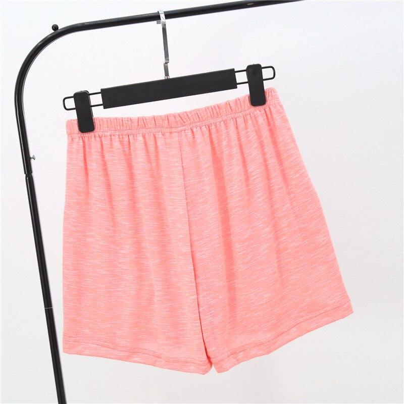 Летние женские шорты, тянущиеся, бамбуковые, хлопковые Пижамные штаны, свободная одежда для жизни, одноцветные женские штаны, нижнее белье, одежда для сна, пижама - Цвет: Оранжевый