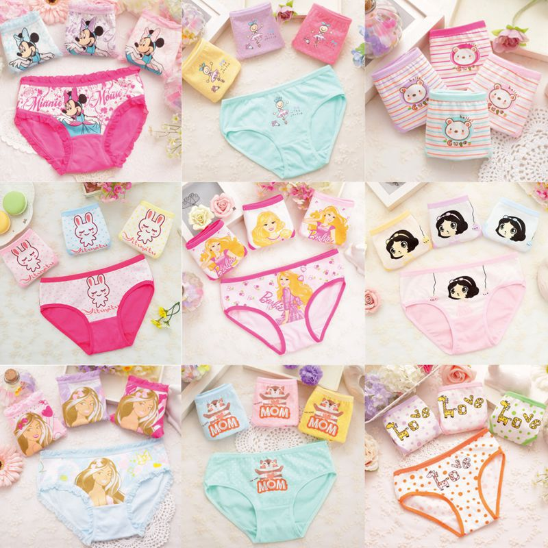 4pcs/lot 2019 Fashion Children Panties For Girls Female Child's Underpants Lovely Cartoon Panties Child's Underwear Baby Cloth