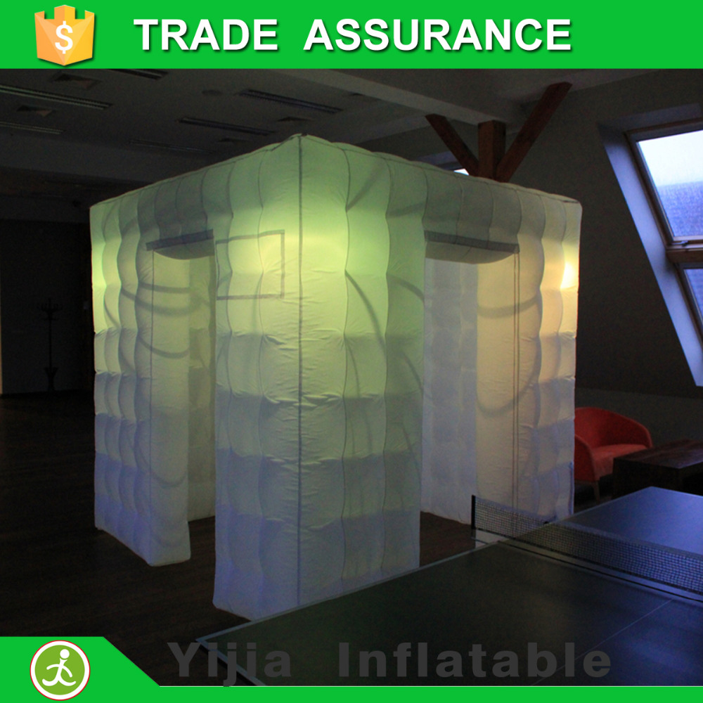 Color booth online - Inflatable Photo Booth Cube Tent With Led Light China Mainland