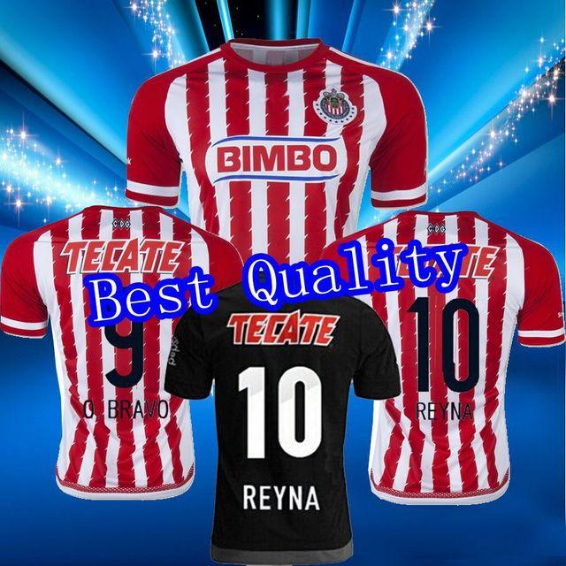 ccda21e62d358 Nuevo mexico Chivas 2015 2016 Home Jersey DE futbol camiseta DE futbol  Guadalajara Deportivo BRAVO REYNA DE NIGRIS ARCE SALCIDO