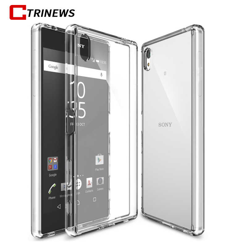 CTRINEWS TPU Silicone Case For Sony Xperia XZ XA XC M4 Aqua Case Transparent Cover For Sony Z1 Z2 Z3 Compact Z4 Z5 Phone Case