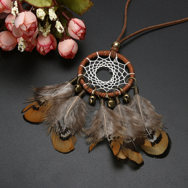 Handmade Indian Feather Necklace