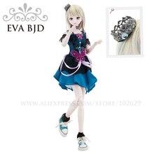 1/4 BJD Doll 45cm 18 jointed dolls Fairy Light doll White Skin ( Free Eyes + Hair + Makeup + Clothes + Shoes ) EVA BJD DA002-05