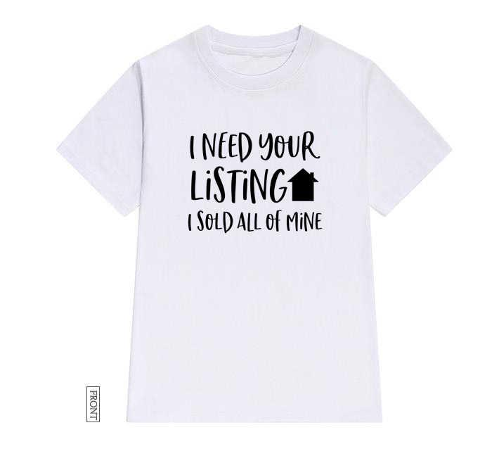 ผมต้องการรายชื่อผมขายทั้งหมดเหมืองผู้หญิง tshirt Cotton สบายๆตลกเสื้อ t เลดี้ Yong สาว tee 5 สีวางเรือ S-683