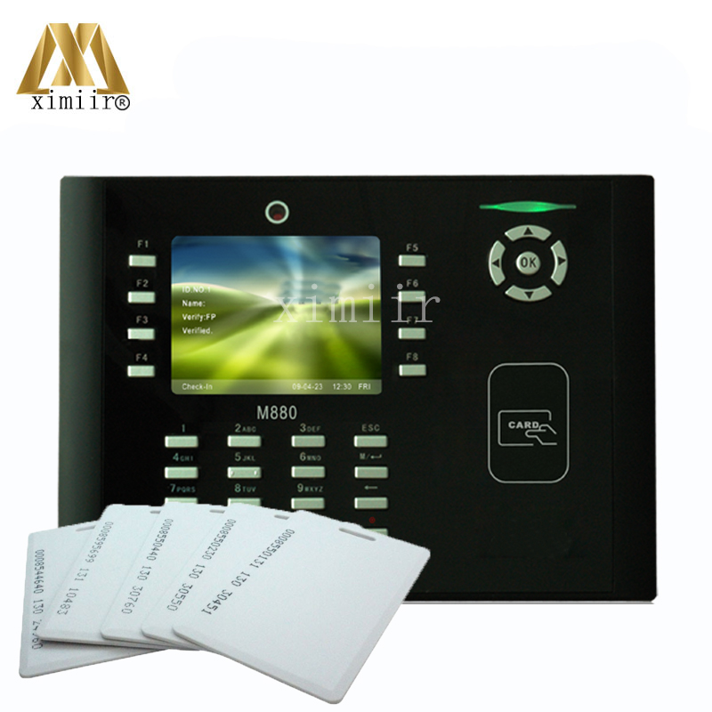 Biometirc Card Time Attendance M880 With 125KHz RFID Card Biometric Time Clock TFT Color Screen Time Attendance