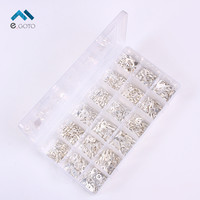 490pcs 18 Type Cold Naked Terminal Non Insulated Ring Fork U Type Terminal Assortment Wire Connector