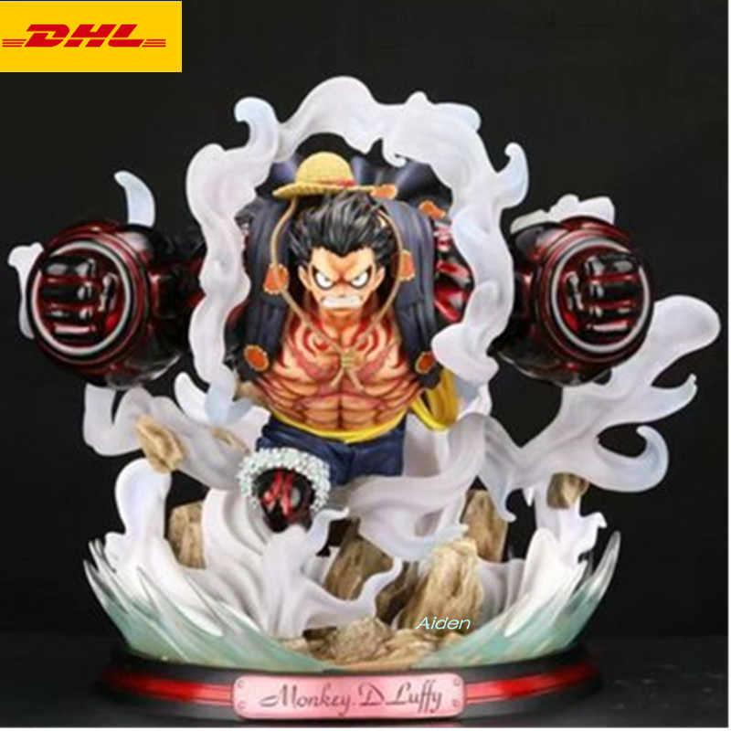 "17 ""ONE PIECE Estátua Do Chapéu de Palha Piratas Busto Quarta Marcha Monkey D. luffy Full-Length Retrato GK Action Figure Toy BOX Z580"