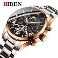 BIDEN men's/mens watches top brand luxury automatic/mechanical/luxury watch men sport wristwatch mens reloj hombre tourbillon