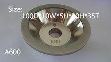 #600 Cup-Shaped Diamond grinding wheel 100D*10W*5U*20H*35T 1pcs