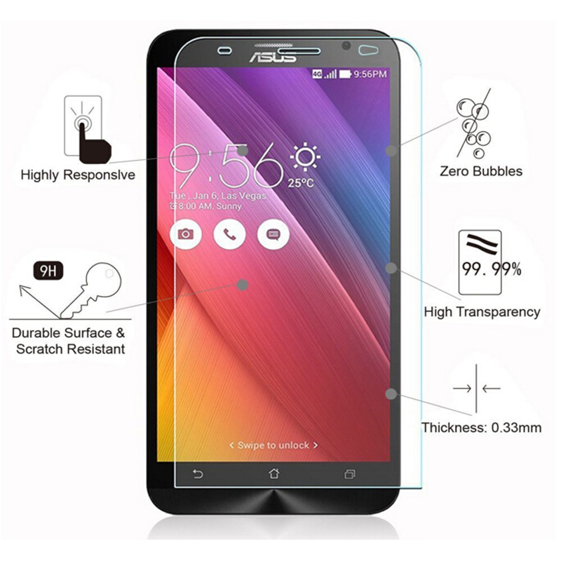 Image 3 - HATOLY 2PCS Tempered Glass for Asus Zenfone 2 ZE500CL ZE500kl ZE550KL ZE601KL ZE551ML Screen Glasses Clear Protective Film ^<-in Fitted Cases from Cellphones & Telecommunications