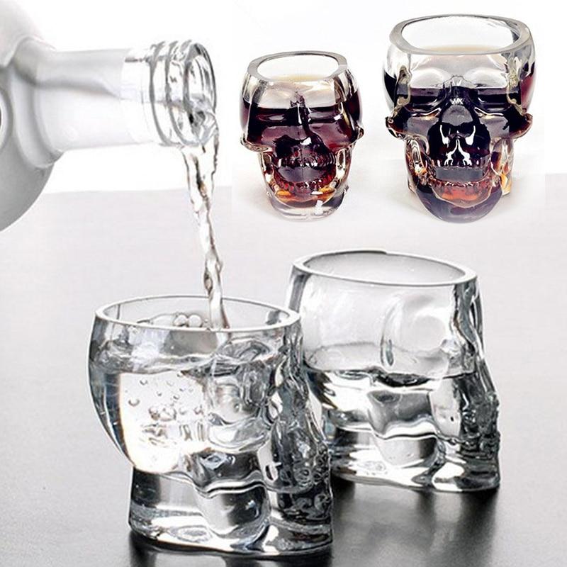 Bones Warrior Skull Designed High Wine Beer Glass Goblet Cup Barware Drinkware