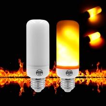 HMDVIDA Holiday Light Christmas Lights Indoor Flame Lamp E27 220V 7W Flame Effect Bulbs 110V Christmas Halloween Decoration
