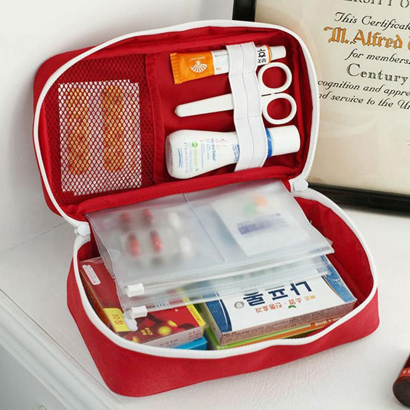First Aid Kit Storage Bag Case Pouch Home Office Medical Emergency Empty Organizer Case