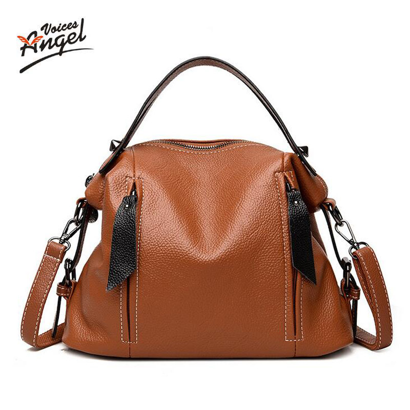 Luxury Handbags Women Bags Designer Leather Female Stitching Handbags Big Women Shoulder Bag 2018 L32 Top-Handle Bags sac a main kzni genuine leather luxury handbags women bags designer women leather handbags top handle bags for girls sac a main 9046