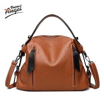 Luxury Handbags Women Bags Designer Leather Female Stitching Handbags Big Women Shoulder Bag 2018 L32 Top-Handle Bags sac a main grande bolsas femininas de couro