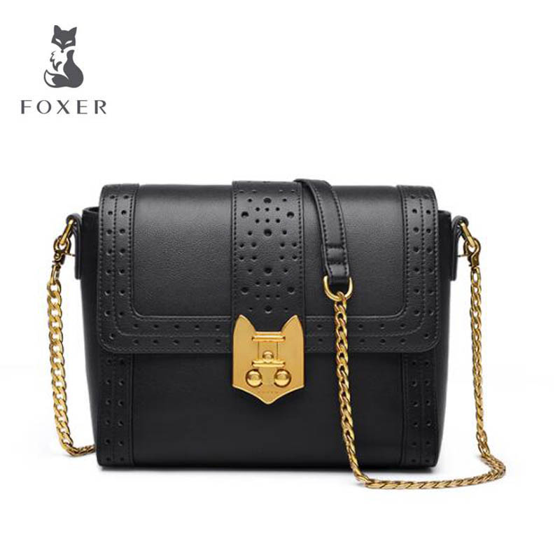 2018 New FOXER women leather bag fashion Chain luxury small bags women handbags designer shoulder bag Handbags & Crossbody bags new fashion women leather handbags 2017 luxury designer patchwork shoulder bags small crossbody bag with chain for women girls