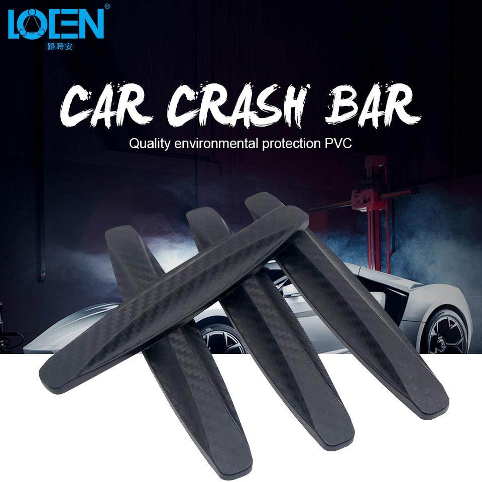 LOEN 4PCS Black Car Door Protector Soft Auto Door Guard Edge Corner Bumper Guard Buffer Molding Protection Strip Car Styling цена