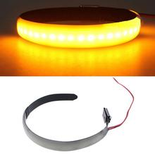 For Universal Moto Accessories 1pc DC 12V Amber LED Motorcycle Fork Lamp Turn Signal Light Strip 6.1 x 0.43 Mayitr
