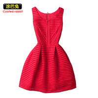 3 Color Lace Dress Womens Back Zip Sleeveless High Waist Hollow Out Tank Dress Fashion Sexy