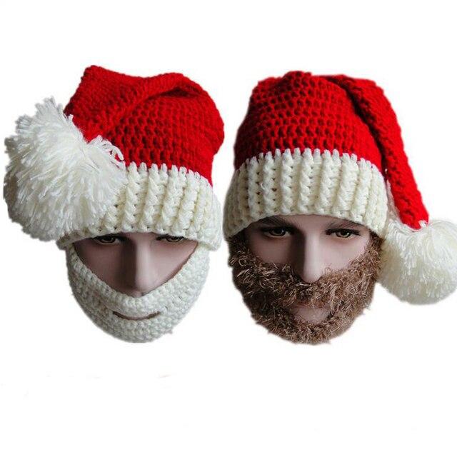 Горячая бесплатная доставка 2015 творческая борода ручной вязание шерсть забавный осьминог Hat рождество ну вечеринку ручной вязки унисекс подарок